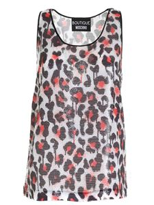 Moschino Boutique - Animal print top in white