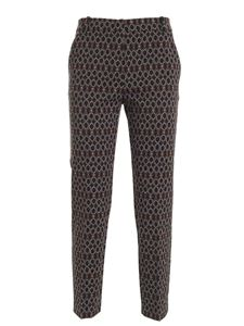 Pinko - Pants in black white and brown pattern