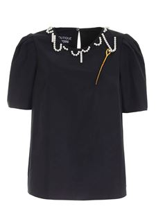 Moschino Boutique - Beads blouse in black