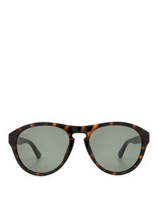 Gucci - Brown havana rounded sunglasses