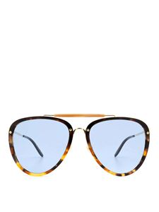 Gucci - Tortoiseshell brown drop shaped sunglasses