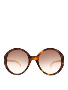 Gucci - Brown sunglasses with detachable GG charms