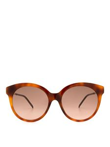 Gucci - Round brown glasses with metal details