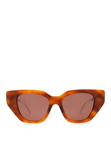 Gucci - Brown havana glasses with crystals on the temples