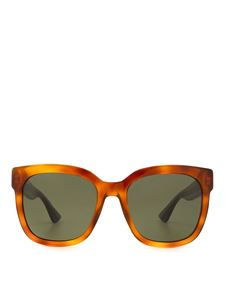 Gucci - Brown sunglasses with colored temples