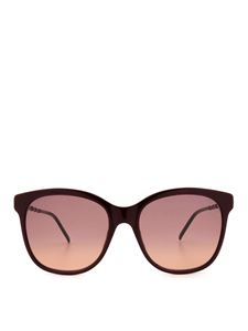 Gucci - Red rectangular glasses with golden details