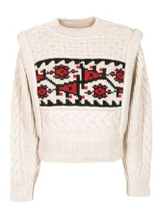 Isabel Marant Étoile - Rioja pullover with red and black inlay