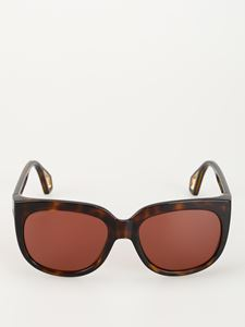 Gucci - Brown over sunglasses with pinkish lenses