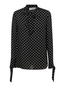 Valentino - Polka dot silk blouse in black