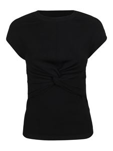 Valentino - Knot detail viscose top in black