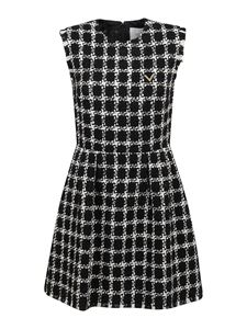 Valentino - Tweed short dress in black and white