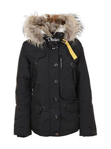 Parajumpers - Black down jacket in technical nylon with hood