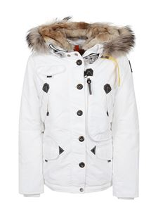 Parajumpers - White down jacket in technical nylon