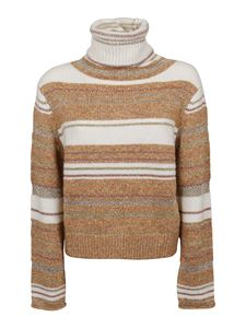 See by Chloé - Striped sweater in camel color