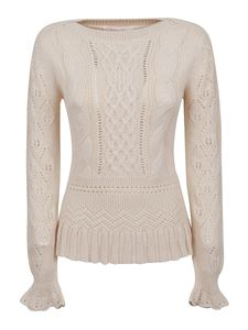 See by Chloé - Pointelle-knit sweater in cream color