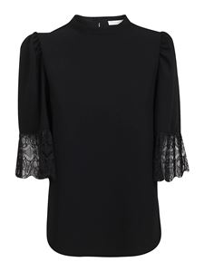 See by Chloé - Crêpe blouse in black