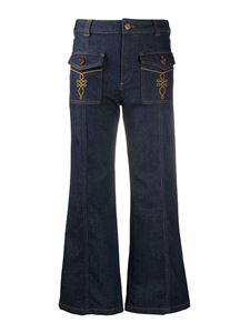 See by Chloé - Denim flared jeans in blue