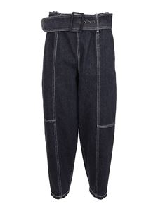 See by Chloé - Denim cropped jeans in blue
