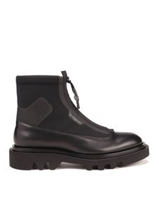 Givenchy - Black Combat ankle boots in leather and neoprene
