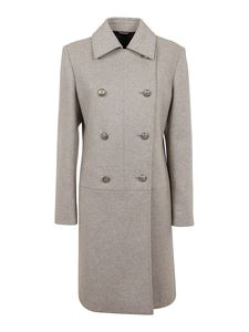 Givenchy - Grey coat in mélange wool