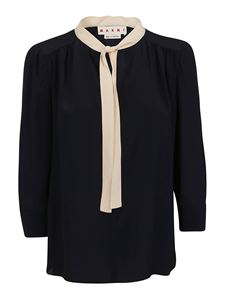 Marni - Pussy bow blouse in blue