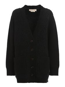 Marni - Wool, mohair and cashmere blend cardigan in black