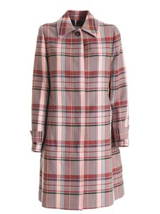 Tommy Hilfiger - Tess tartan coat in shades of pink