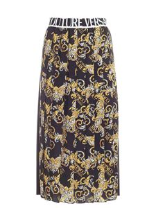 Versace Jeans Couture - Logo Baroque print skirt in black