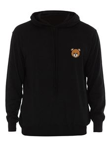 Moschino - Teddy Bear patch hoodie in black