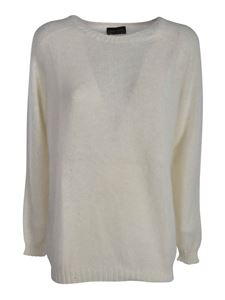 Roberto Collina - Raglan sleeves pullover in white