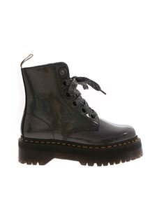Dr. Martens - Vegan Molly boots in metallic black