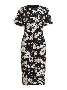 Moschino - Floral print tech fabric dress in black