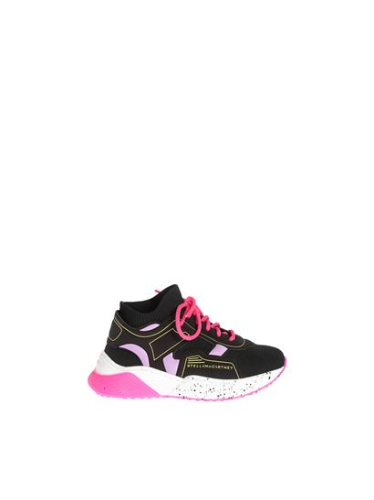 Stella McCartney Kids - Black sneakers with contrasting details