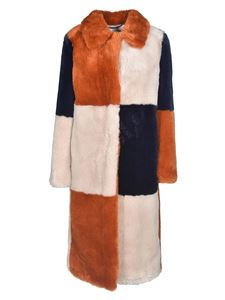 Stella McCartney - Adalyn eco fur coat in multicolor