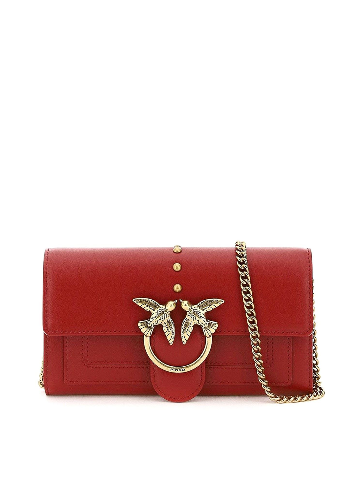 Pinko PINKO LOVE SIMPLY WALLET IN RED