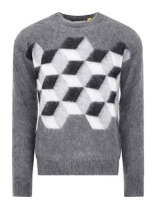 Moncler - Jacquard sweater in grey