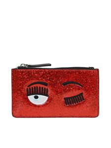 Chiara Ferragni - Flirting glitter pouch in red