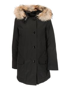 Woolrich - Artic Parka in black with fur collar