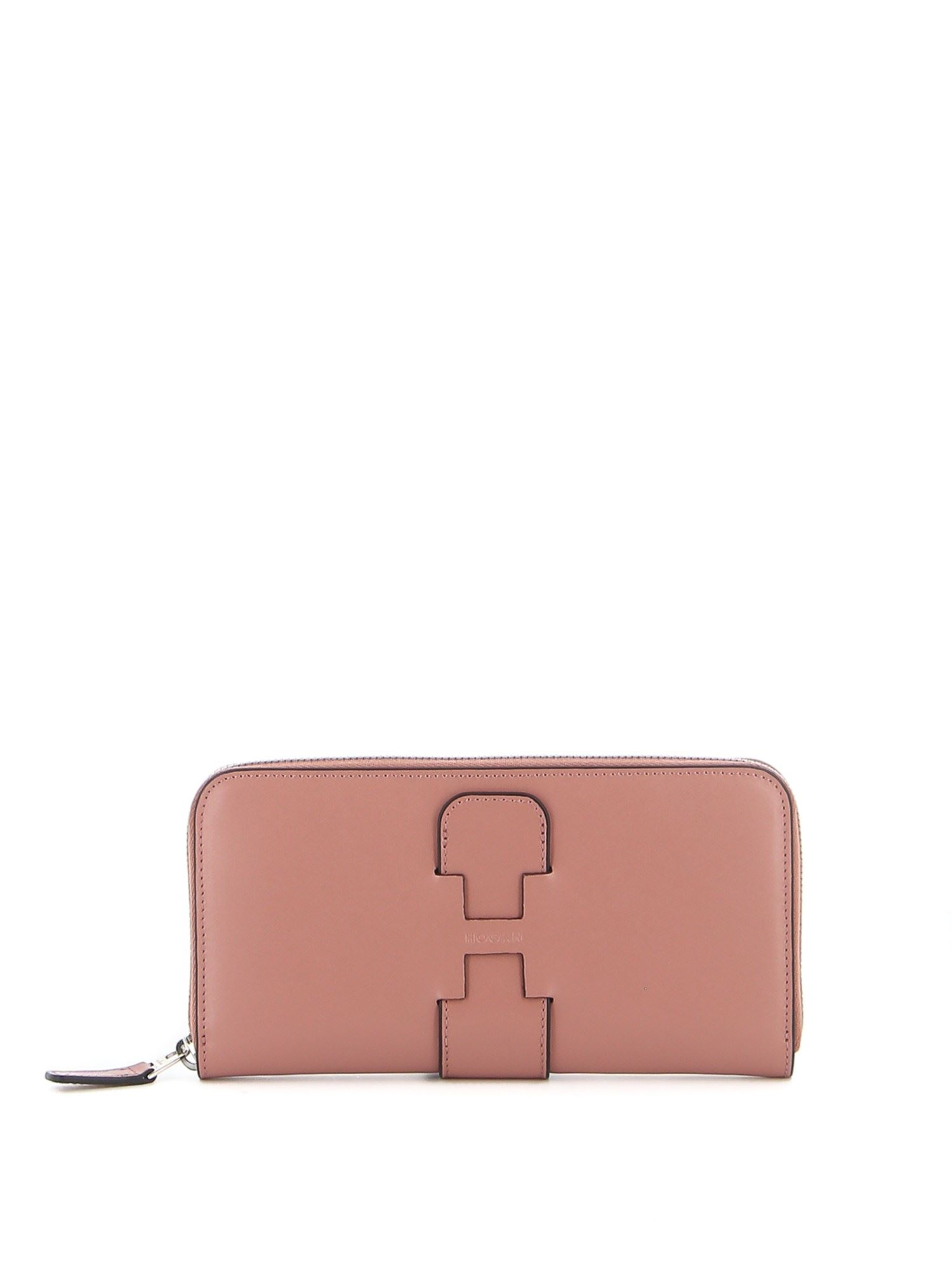 Hogan LEATHER CONTINENTAL WALLET IN PINK