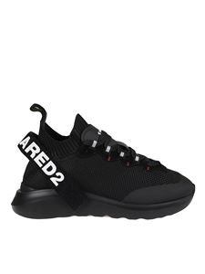 Dsquared2 - Sneakers in tessuto nere