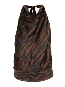 The Attico - Animal print top in black and brown