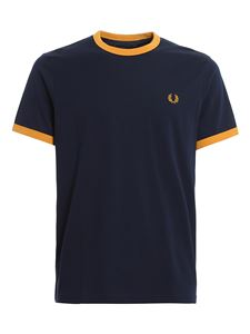 Fred Perry - T-shirt Ringer blu