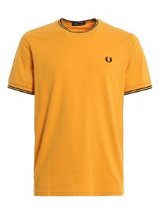 Fred Perry - Logo embroidery cotton T-shirt in yellow