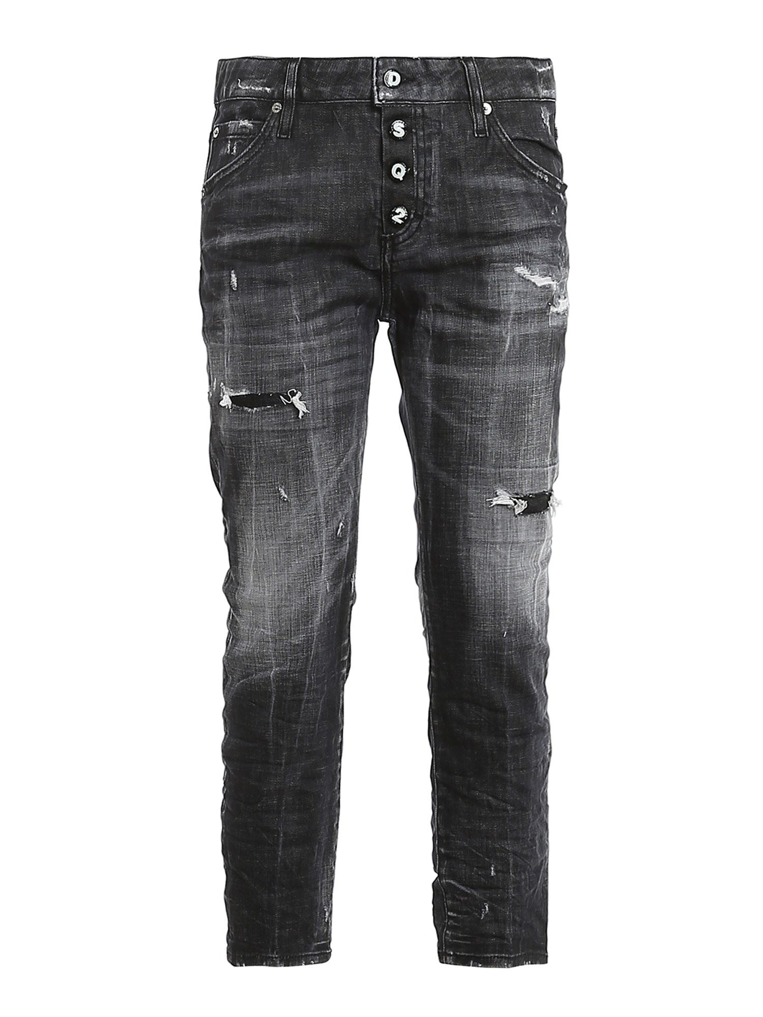 Dsquared2 Cottons COOL GIRL CROPPED JEANS