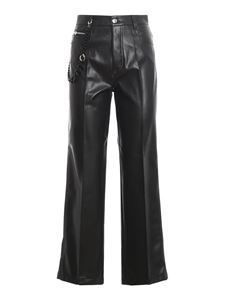 Ermanno Scervino - Chain detail faux leather pants in black