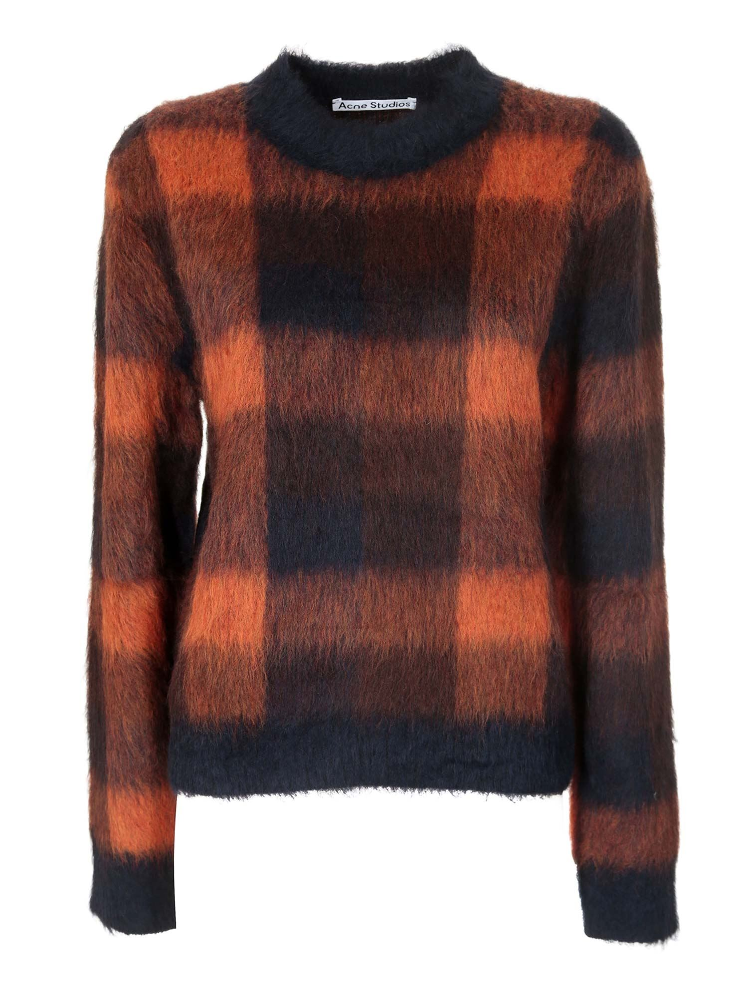 Acne Studios KANYA SWEATER IN BLUE AND ORANGE