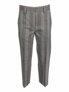 Acne Studios - Checked pants in blue and orange