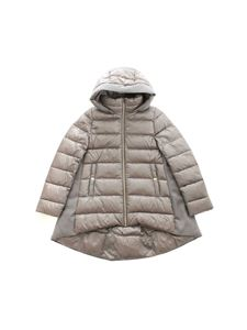 Herno - Logo quilted down jacket in pearl grey