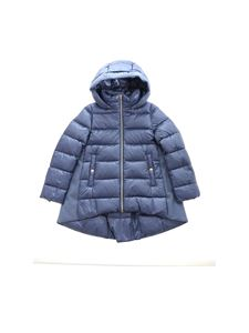 Herno - Logo quilted down jacket in pale blue color