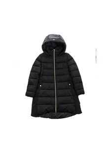 Herno - Logo quilted down jacket in black
